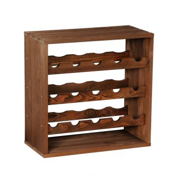 Wooden Wine rack system CUBE 50, tobacco, standard