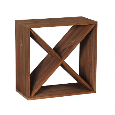 Wooden wine rack system CUBE 50 tobacco, 'X'