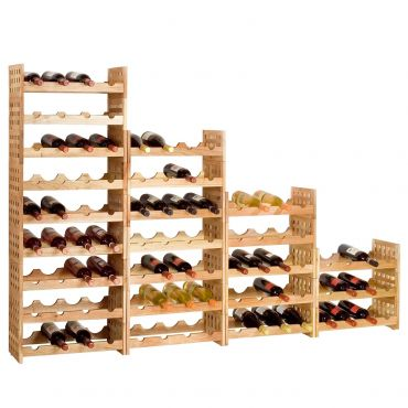Wooden wine rack NORDIC