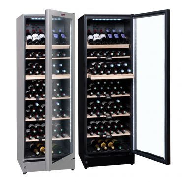 Multi-zone wine cooler for 195 bottles