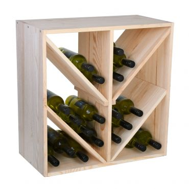 Wine rack 60 cm with diagonal compartments