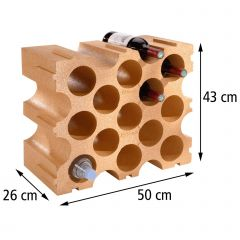 Wine rack TERRACOTTA, synthetic material, set of 2