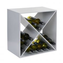 Metal wine rack System CUBE, silver