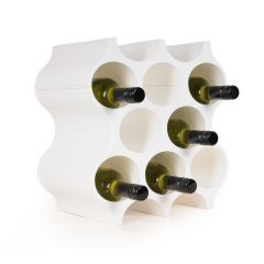 Wine rack system SET-UP, synthetic material in white