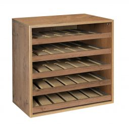 Module D 55 cm with single bottle sliding shelves, country oak