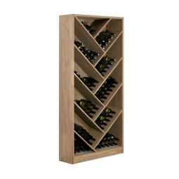 Wine rack PRESTIGE 11.1, brown stained oak
