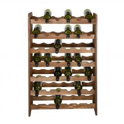Wooden wine rack OPTIPLUS, model 1, brown stain