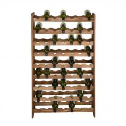 Wooden wine rack OPTIPLUS, model 3, brown stain