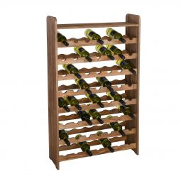 Wooden wine rack OPTIPLUS, model 2, brown stain