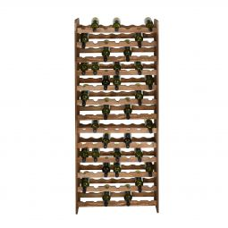 Wooden wine rack OPTIPLUS, model 5, brown stain