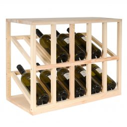 Wine DISPLAY MODULE pine wood holds 10 bottles