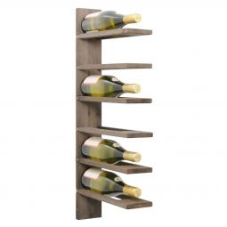 Wall wine rack PINOT, brown stained