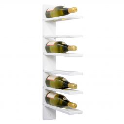 Wall wine rack PINOT, white stained