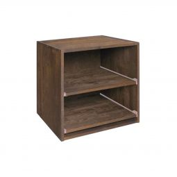 Wine rack 52 cm, module with sliding shelves, brown stained