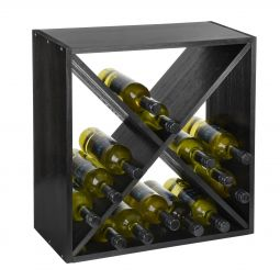 Wine rack system 52 cm, X-Cube black stained