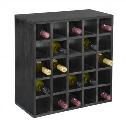 Wine rack 52 cm, module grid, black stained