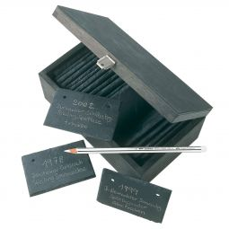 Wooden box with slate mini-boards