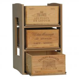 CAVICASE with 3 sliding shelves for wine storage boxes