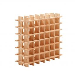 Wine rack modular PRIMAVINO natural for 42 bottles