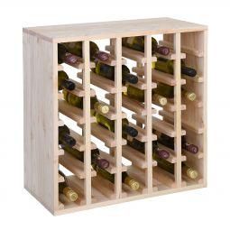 Wine rack module QUADRI, natural pinewood