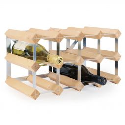 Modular wine rack system TREND 12 bottles, natural, D 22,8 cm