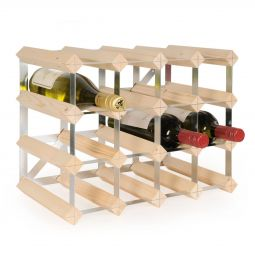 Modular wine rack TREND 16 bottles, natural, D 22.8 cm