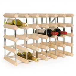 Modular wine rack system TREND 30 bottles natural, D 22,8 cm