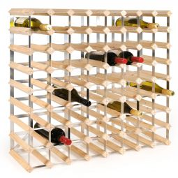 Modular wine rack system TREND 72 bottles, natural, D 22,8 cm