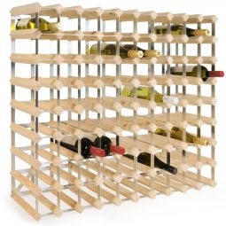 Modular wine rack system TREND 90bottles, natural, D 22,8 cm
