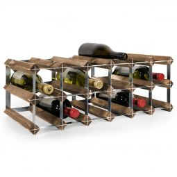 Modular wine rack system TREND dark brown, 18 bottles