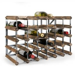 Modular wine rack system TREND dark brown, 30 bottles