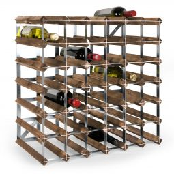Modular wine rack system TREND dark brown, 42 bottles
