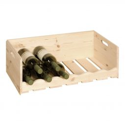 Wine/groceries crate VIVERI, natural pinewood