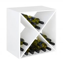 Metal wine rack System CUBE, white