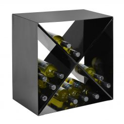 Metal wine rack System CUBE, black