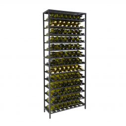 Wine rack BLACK PURE, high, 2 parts