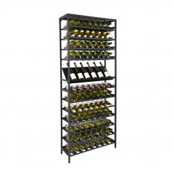 Metal Wine Rack BLACK PURE with Presentaion Shelf
